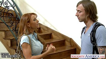 Hottie teacher Janet Mason gets facialized
