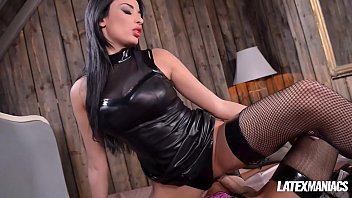 Latex 2 Kinky latex dominatrix anissa kate gets ass fucked by her crossdressed man