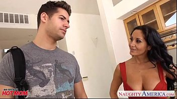 Brunette mom in pantyhose Ava Addams riding cock thumbnail