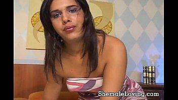 Slutty shemale loves to get slammed
