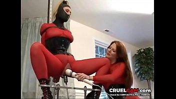 Wow! Slave has orgasm after orgasm! www.CruelCam.com