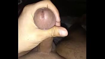 Cumshot for girlfriend in night