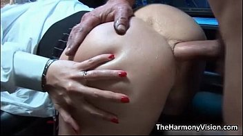 Busty blonde whore gets her ass