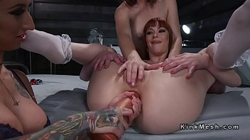 Fetish hiccup Lesbian slave gets deep anal penetration