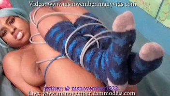 Don't Hurt Me Stepdad! Msnovember Stepdad Lost It And Tied Her Beautiful Ebony Body, Giant Natural Titties and Sweet Pussy on Sheisnovember
