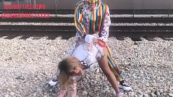 Free xxx clown movies Clown fucks girl on train tracks