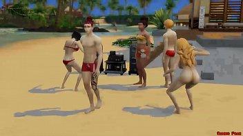 10992 Bleach En La Playa Rukia Follada por Renji Fuertemente Anime Hentai Parodia preview