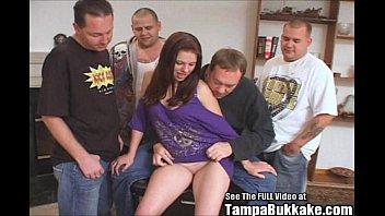 Wild 18 year old Gemini fullfils her gangbang fantasies