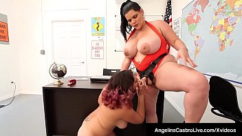 Bbw strap on sex - Bbw angelina castro strap on fucks gia loves tight pussy