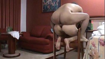Anal en la silla a la maestra Chio