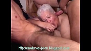 Gannies ass - Old bbw grandma gangbang