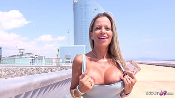 GERMAN SCOUT - FIT BIG TITS LATINA MILF HELENA SUCK PUBLIC AND ROUGH FUCK FOR CASH