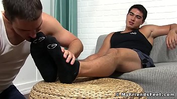 Asian foot gay - Asian jock axel kane cums hard during toe licking