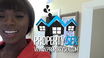 Hot ebony selfshot tits missionary - Propertysex - beautiful black real estate agent interracial sex with buyer