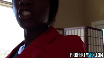 PropertySex - Beautiful black real estate agent interracial sex with buyer thumbnail