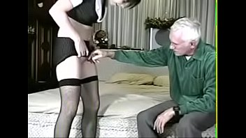 Teen shows old man her assets