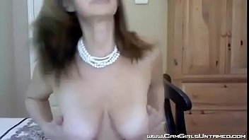 Hot Busty Woman in Stockings on Cam - CamGirlsUntamed.com