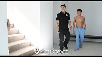 HD - ManRoyale Super hot twink get fucked by the security guard
