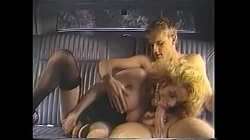 Retro blond gets pussy fucked doggystyle in backseat of car
