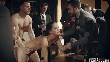 Businessman taunt and public fucks a sexy escort