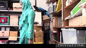 Teen girl shows off and skinny blond fun first time Hijab-Wearing