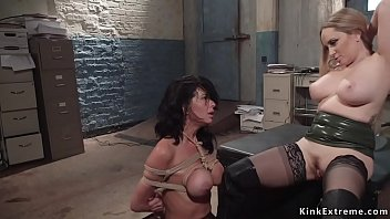 Milf dom rough anal fucks lesbian slave
