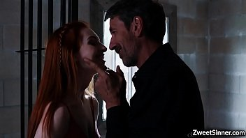 Teen redhead Maya Kendrick fucks with a horny dirty old man.She loves it when he licks her pussy and got fuck while he  toys her at the same time.