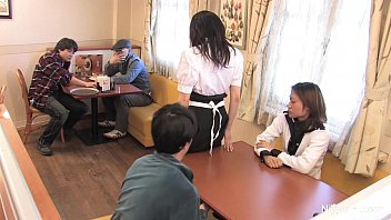 Japanese waitress food gangbang Thumb