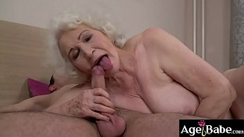 Busty granny Norma knows that Rob's dick can satisfy her vintage treasure!