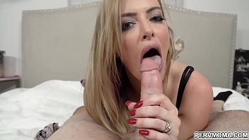Horny stempmom Linzee Ryder backing her MILF pussy up on her stepsons young dick