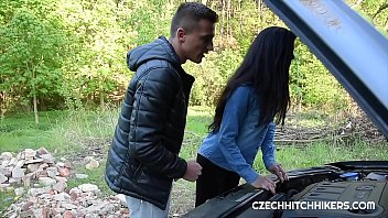 Next girl for our instructor. He is always ready to help horny students with his hard dick. He enjoys publick fuck with nice Czech dark hair girl.