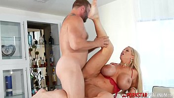 PORNSTARPLATINUM Alura Jenson Cum On Big Tits After Banging