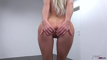 All Natural Blonde Does Striptease Before Taking Dick POV