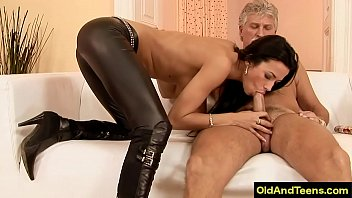 Old guys and young girl porn - Easter european sexy long leg girl fuck old rich guy