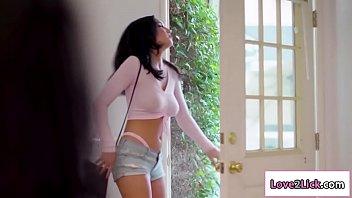 Lesbian black stripper videos - Stripper licks costumers black pussy