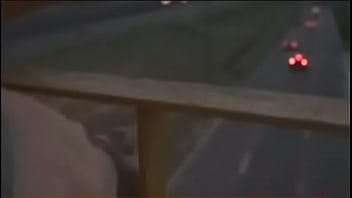 Cumming over in a highway -Movie explicit scene