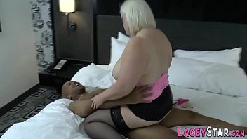 Granny in heels pounded