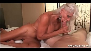 Granny milf son - Granny goes wild over his huge dick - see mom suck