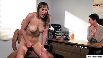 Naive secretary HAS To have sex with boss' husband - Olive Glass, Rebecca Vanguard and Dan Ferrari