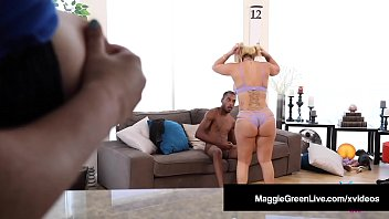 Big Butt Babes Maggie Green & Nina Kayy Suck & Fuck Big Cock