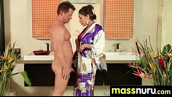Naughty chick gives an amazing Japanese massage 26