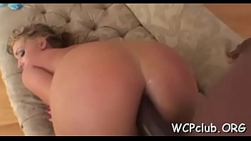 Ebony sucking monster white cock - White chick sucks chocolate one-eyed monster and gets it in soaked snatch