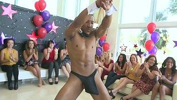 DANCING BEAR - Group Of Mixed Race Babes Suckin' & Fuckin' Male Strippers