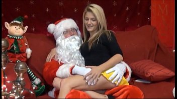 Naked girls in santa suits Merry christmas - live on - www.69sexlive.com