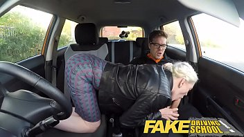 Wife with no sex drive Fake driving school big tits hairy pussy student has creampie and squirts
