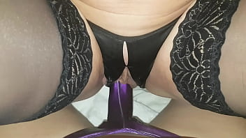 Upskirt satin panties crutch - Satindesire