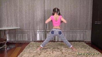 Women gymnastics us uniform sexy Cute flexi teen stretching lesson