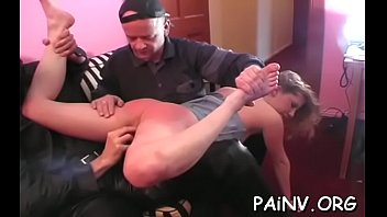 Free hardcore spanking video Gal eats pussy and gets abased and spanked by a domina