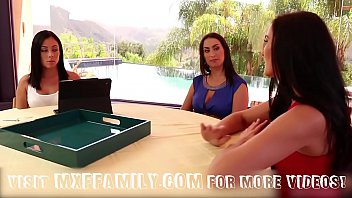 Step Daughters and Mom Fuck in 3some