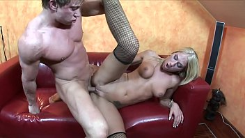 Slutty Dionne Darling takes young guy's cock in her mouth and pussy